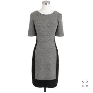 J.Crew Paneled Stretch Dress in Color-block